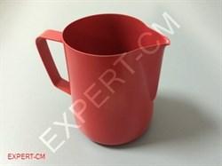 Питчер для молока 0.6л Красный PTFE покрытие - фото 10816