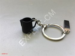 Брелок для ключей питчер черный маленький - фото 12742