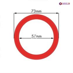 Кольцо уплотнительное группы dd73х57мм h9мм красный силикон - фото 23896