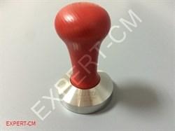 Темпер MOTTA (сталь) с дер. ручкой (красный) Ø53мм - фото 6653