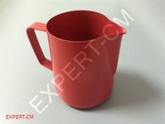 Питчер для молока 0.6л Красный PTFE покрытие