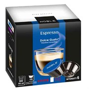 Кофе в капсулах Noble Espresso (Эспрессо) формата Dolce Gusto, 16 капсул