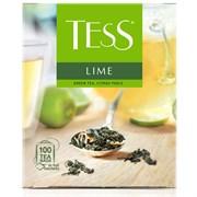 Чай зеленый Tess Lime, 100 пакетиков в упаковке