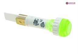 Индикатор (зеленый) d10мм 230В 6,3 мм