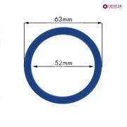 Кольцо уплотнительное группы из термостойкого синего силикона SPAZIALE d63х52мм h6.65мм