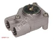 "Расходомер (флоуметр) GICAR (сталь) 1/4"" с LED, разъем NSF"