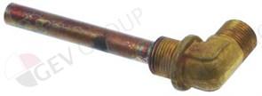 """Инжектор теплообменника (медь) Ø10 мм, L75 мм 3/8"""" внеш.-3/8"""" вн"""