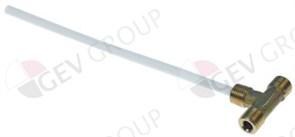 """Инжектор теплообменника T-образный  Ø6 мм, L175 мм 1/4"""" внеш.-1/"""