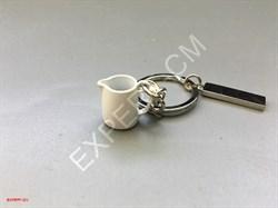 Брелок для ключей питчер белый маленький - фото 12741