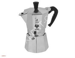 Гейзерная кофеварка Bialetti Moka Express на 3 порции - фото 13886