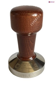 Темпер сталь с коричневой ручкой (дерево) d58,5мм EXPERT-CM - фото 22950
