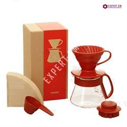Набор для дрип-кофе HARIO VDS-3012R HARIO 300 мл. красный - фото 23933