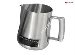 Питчер Latte Pro для молока с термометром (600мл) 0.6л - фото 25319