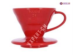 Воронка керамическая красная Hario VDC-01R на 1-2 чашки*** - фото 26404