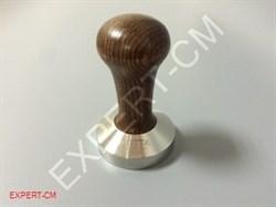 Темпер MOTTA (сталь) с дер. ручкой (коричневый) Ø53мм - фото 6673