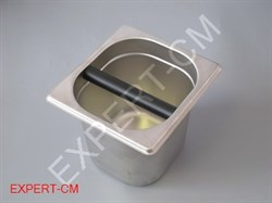 Нок-бокс (Knock Box) для кофейного жмыха, сталь 17x16x15см - фото 6703