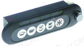 Блок кнопочной панели GRIMAC (5 кнопки) с включателем, L115мм W47мм