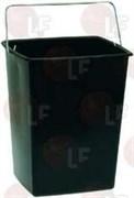 Ведро черное для кофейной гущи 280x242x344мм