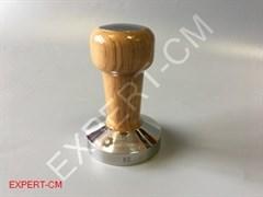 Темпер для кофе коричневый (дерево) с вставкой Ø58мм EXPERT-CM
