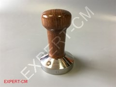 Темпер сталь с коричневой ручкой (дерево) Ø57мм EXPERT-CM