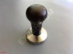 Темпер ESSENTIAL (сталь) с дер. ручкой (темно-коричневый) d53мм