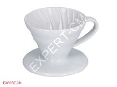 Воронка керамическая белая Hario VDC-01W на 1-2 чашки