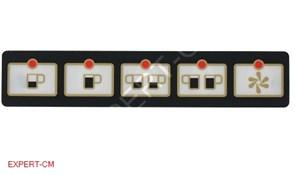 Стикер кнопочной панели 5 кнопок SAN MARCO 85