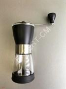 Кофемолка ручная, стекло 353гр./65гр. 7x17см