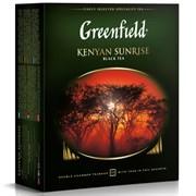Чай черный Greenfield Kenyan Sunrise пакетированный 100 пакетиков в упаковке