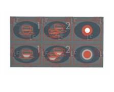 Стикер кнопочной панели 5 кнопок FUTURMAT/ITALCREM/GAGGIA
