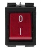 Выключатель эл. (красный) 30х22мм 250В 16А
