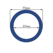 Кольцо уплотнительное группы из термостойкого синего силикона d73х57мм h8.5мм