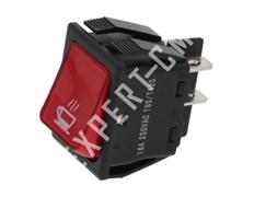Выключатель красный (кнопка) двухполюсный КОФЕ 30х22мм 250В 16А