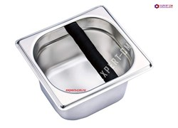 Нок-бокс (Knock Box) для кофейного жмыха, сталь 17,5x16x9,7см