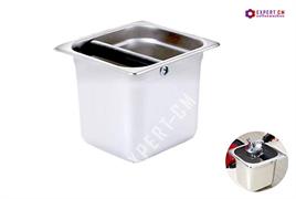 Нок-бокс (Knock Box) для кофейного жмыха, сталь 17x16x15см