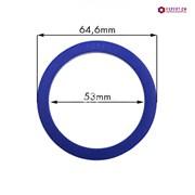 Кольцо уплотнительное группы SAN MARCO dd64,6х53мм h5,5мм голубой силикон