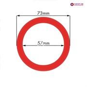 Кольцо уплотнительное группы dd73х57мм h9мм красный силикон