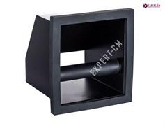 Нок-бокс (Knock Box) встраиваемый, без дна со скосом, черный сталь 185х170х170мм