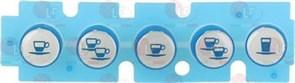Силиконовая накладка 5 кнопок NUOVA SIMONELLI AURELIA