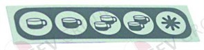 Стикер обозначений кнопок (5 кнопок) 60102002 EXPOBAR
