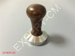 Темпер MOTTA (сталь) с дер. ручкой (коричневый) d58мм с конусной подошвой